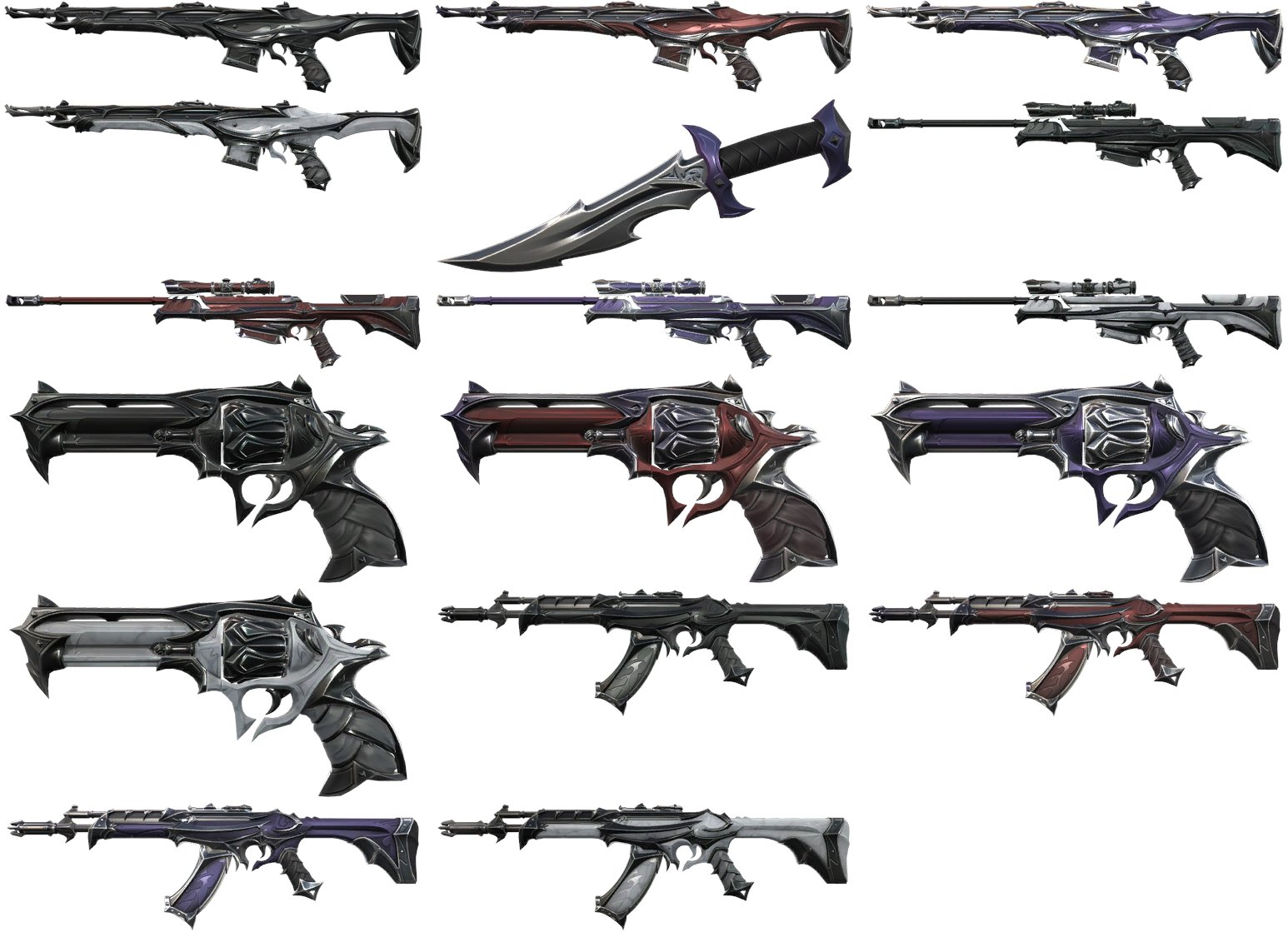 Reaver skin collection all the variants