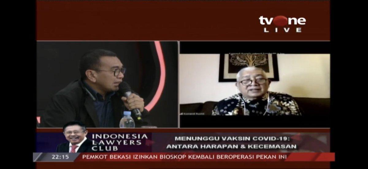 #ILCMenungguVaksin | ARYA SINULINGGA X PROF. dr. KUSNANDI RUSMIL https://t.co/S7Ch50JK2r