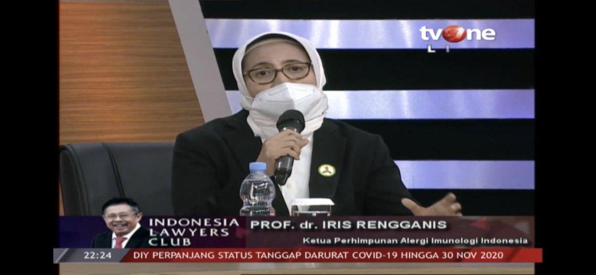 #ILCMenungguVaksin | NARASUMBER ILC : PROF. dr. IRIS RENGGANIS (Ketua Perhimpunan Alergi Imunologi Indonesia) https://t.co/6J3jy55kqV