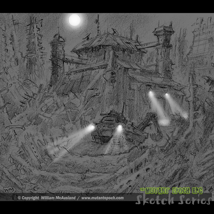 Ruinbound Digger Outpost This is an idea that I keep coming back to, an excavator's stronghold deep in the ruins. Graphite concept art. https://t.co/XAuLsUlrLr  #fortress #bunker #outpost #ruinscape #ruins #night #mutantepoch #rpg #ttrpg #sketch #sketchseries #graphite #gameart https://t.co/jToiRU3Y94