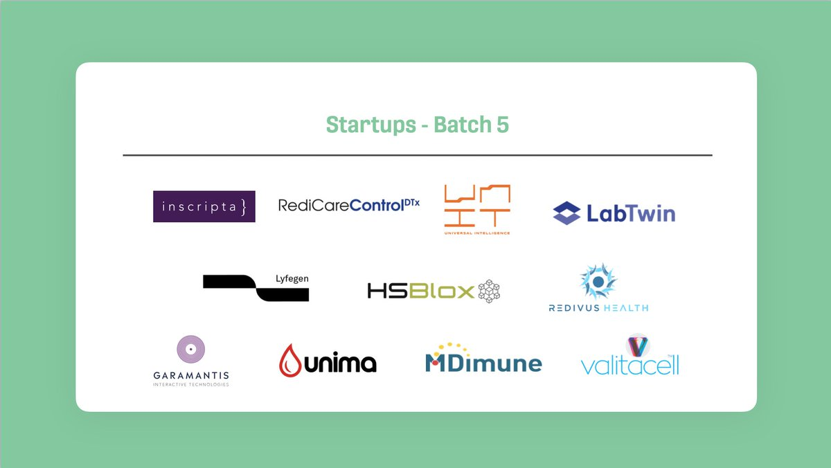 Last week, we kicked off our Batch 5 with 11 amazing startups that will be working on a pilot project with one of our corporate partners @Sanofi, @RocheDia or @LonzaGroup!  Rewatch our Kick Off Day here: https://t.co/jEfaXkyCGN  #startupcreasphere #kickoff #batch5 https://t.co/YdvtUDZBLM