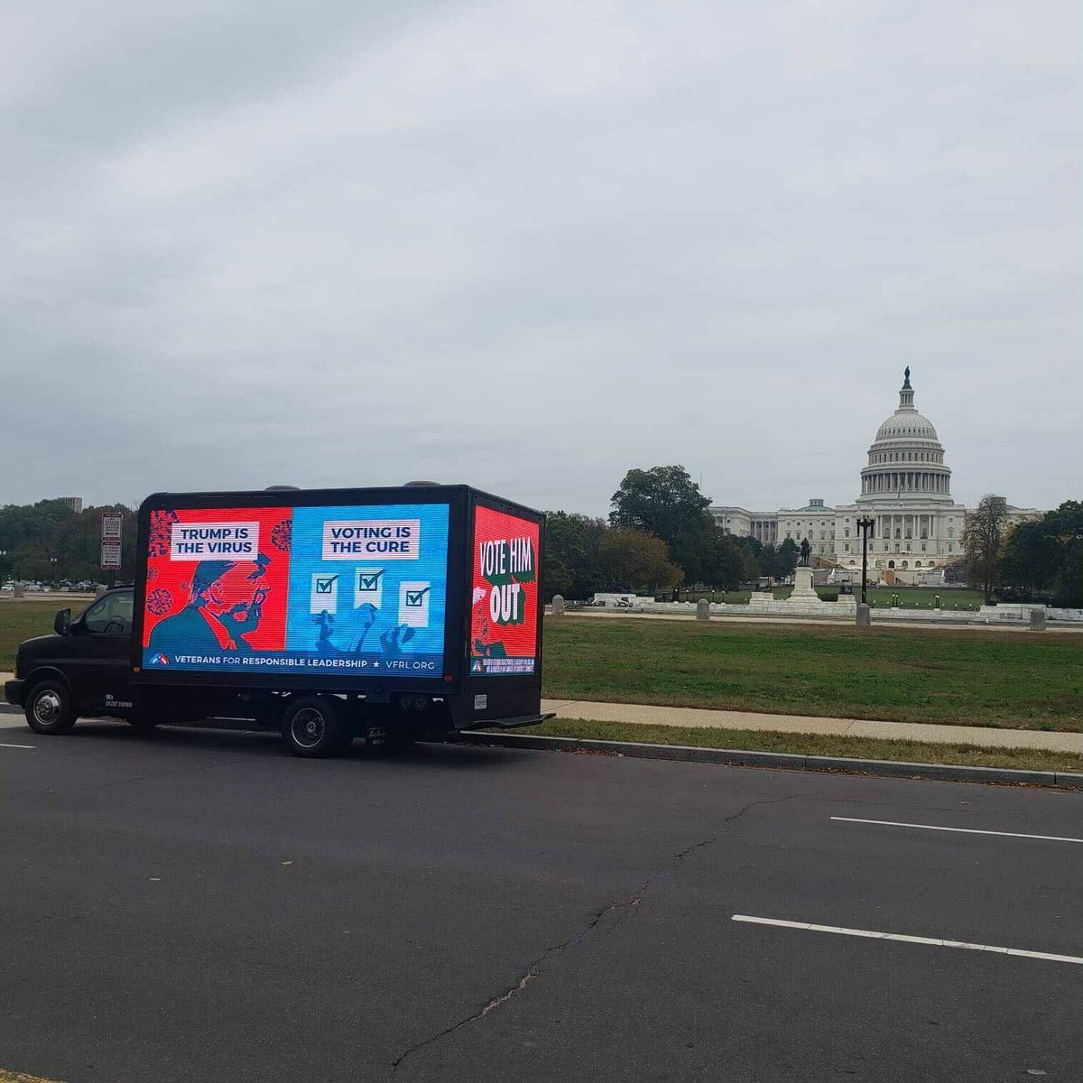 location update on the @VetsForRL and @ProjectLincoln DC Mobile billboard. It was just at 3rd St NW, in front of the Capital Building If you spot it be sure to take a pic 📷 and share with hashtag #trumpbillboard