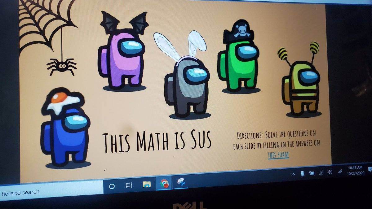 I love this resource I found. My students are obsessed with Among Us. I don't think they've been more excited to review math #distancelearning #amongus #makelearningfun #KCPS #WhateverItTakes https://t.co/ntfkCuZGRU
