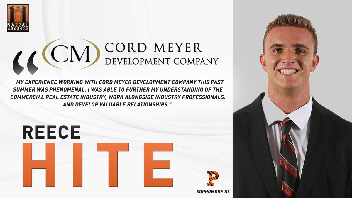 """My experience working with #CordMeyer this past summer was phenomenal. I was able to further my understanding of the Commercial Real Estate industry, work alongside industry professionals, and develop valuable relationships."""" -Sophomore DL @hitereece14 on his summer internship"""