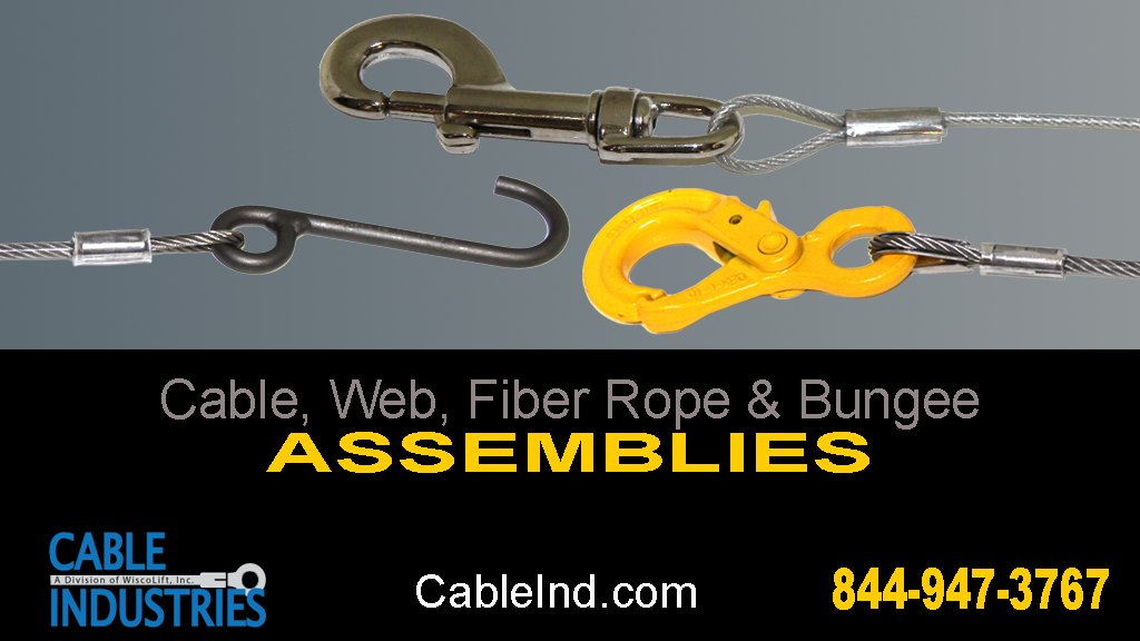 Mechanical wire rope cable assemblies are used in many types of industries, including: #Medical #Industrial #Security #Aerospace #Marine #Furniture #Agricultural #Architecture. Fill out our comprehensive online form for a no-obligation free quote: https://t.co/LWAIqTYEqb https://t.co/gVnTlcU5sd