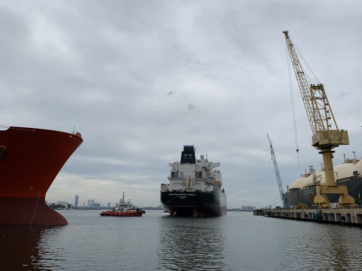BWTS retrofit onboard a #LNG carrier has been completed, full commissioning was carried out on Singapore's anchorage, signed off by Albion Marine representative, #BWTS supplier Service Engineers and Class. The #vessel is on the way to the loading port. #shippingindustry #marine https://t.co/NGnWoKQJzG