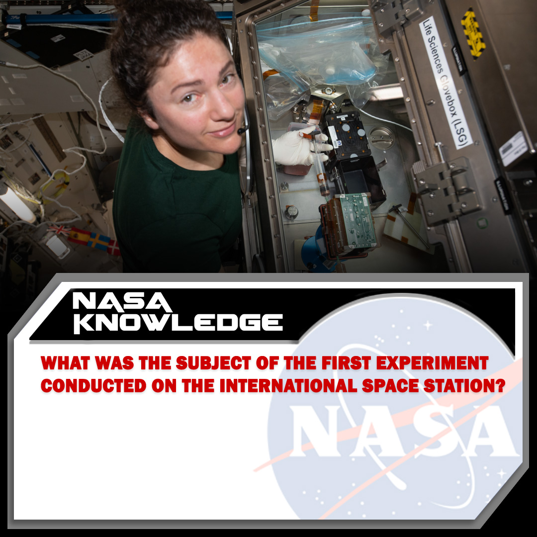 Researchers have completed more than 3,000 scientific experiments in the more than twenty years the @Space_Station has been in orbit. Do you know the subject of the very first experiment done on board this laboratory in space?