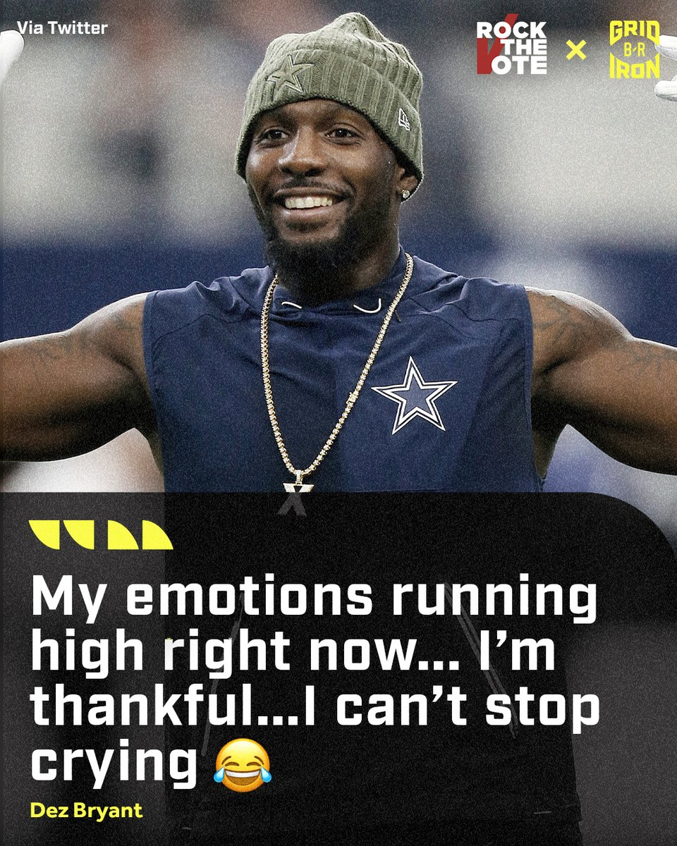 It's been a long road back for @DezBryant:  ⬜️  2016 Pro Bowler ⬜️  838 yards, six TDs in 2017 ⬜️  Cut by Cowboys in 2018 ⬜️  Signed by Saints ⬜️  Tore Achilles two days later ⬜️  Missed entire 2019 season  Now back on the Ravens practice squad 🙏  @brgridiron https://t.co/2e6ehER5r4
