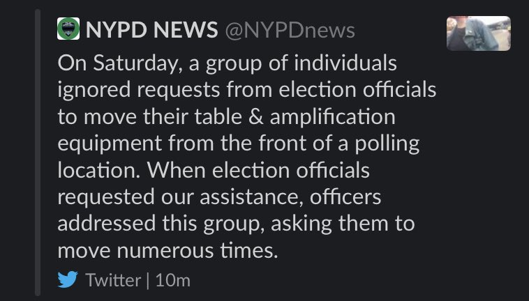 Why'd @NYPDnews delete this tweet?
