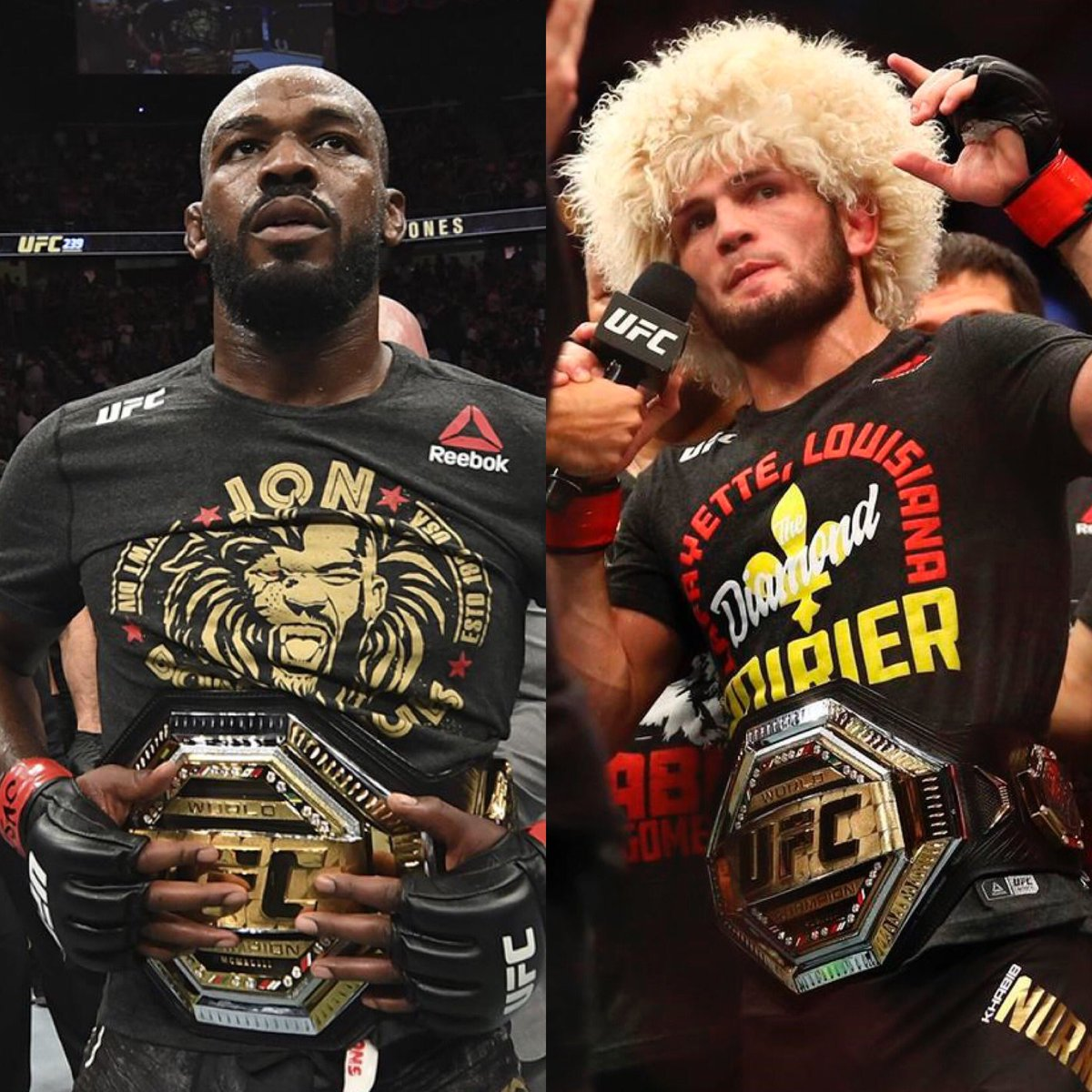 🚨Very important #UFC champion 🐐debate between #JonJones and #Khabib thread:   While both are (more or less) undefeated they have different stats:  Khabib 4-0 in title fights (3 defenses)💥   Jones 14-0-1 in title fights (11 defenses) 👀   #UFC254 #UFCFightIsland6 #Goats https://t.co/RU9DCw1BvJ