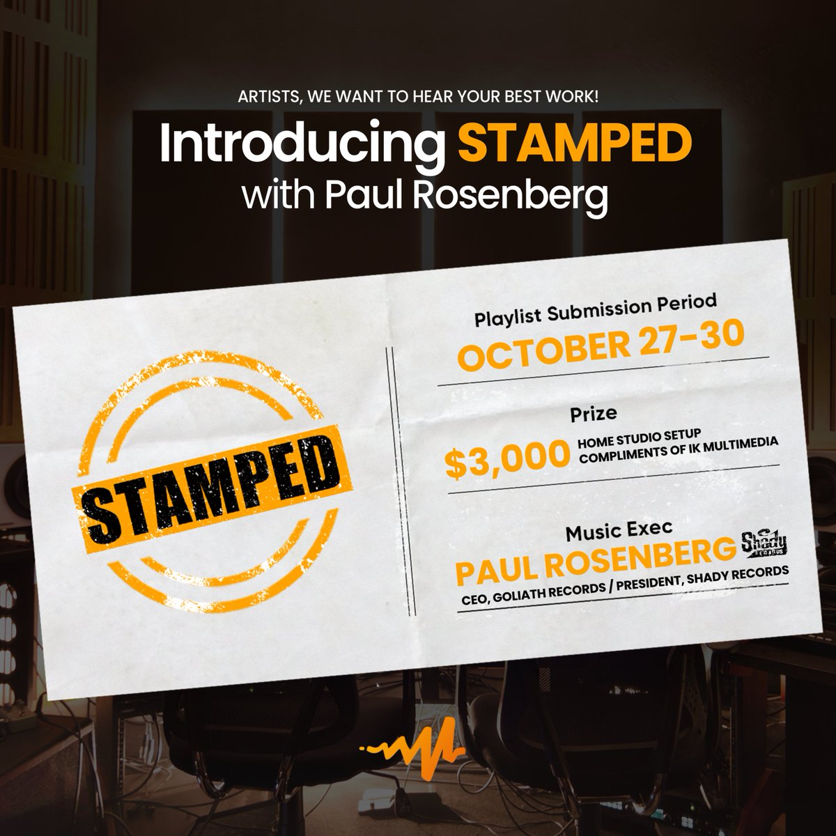 Paul wants to hear your bars but they better be good 💀 TRUST ME.  Hit up @rosenberg via the @audiomack  #STAMPED contest and learn more on their site -
