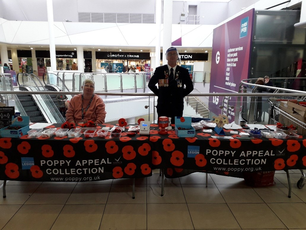 Not picked up a Poppy yet? We have the @PoppyLegion in the centre selling them until the 7th November.  #CrystalPeaks #Poppies https://t.co/PLQGD1iqE3