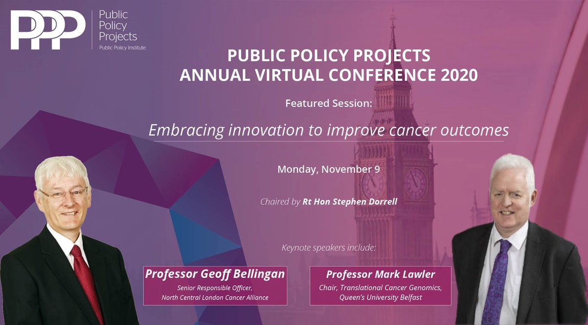 test Twitter Media - Can innovation improve cancer survival rates?   @Policy_Projects is delighted to announce headline speakers Prof. @GBellingan @nclcancer and Prof. Mark Lawler @QUBelfast for the PPP 2020 Virtual Annual Conference (Monday, 9th November)  Get Tickets⬇️ https://t.co/gZFNRy8oL2 https://t.co/Pbk0GkUze7