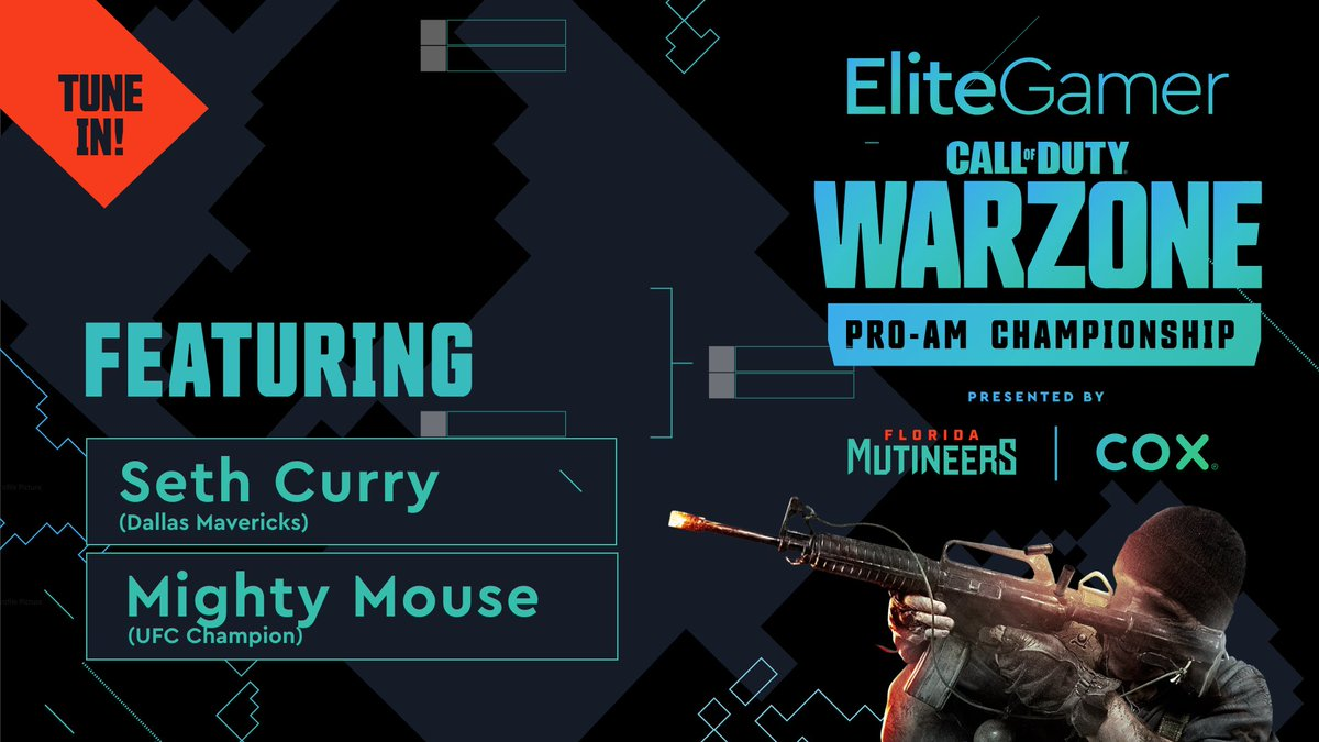 More squads dropping in for their shot at $25,000. Team @sdotcurry and team @MightyMouse are locked in for the #EliteGamer Pro-Am Warzone Championship.