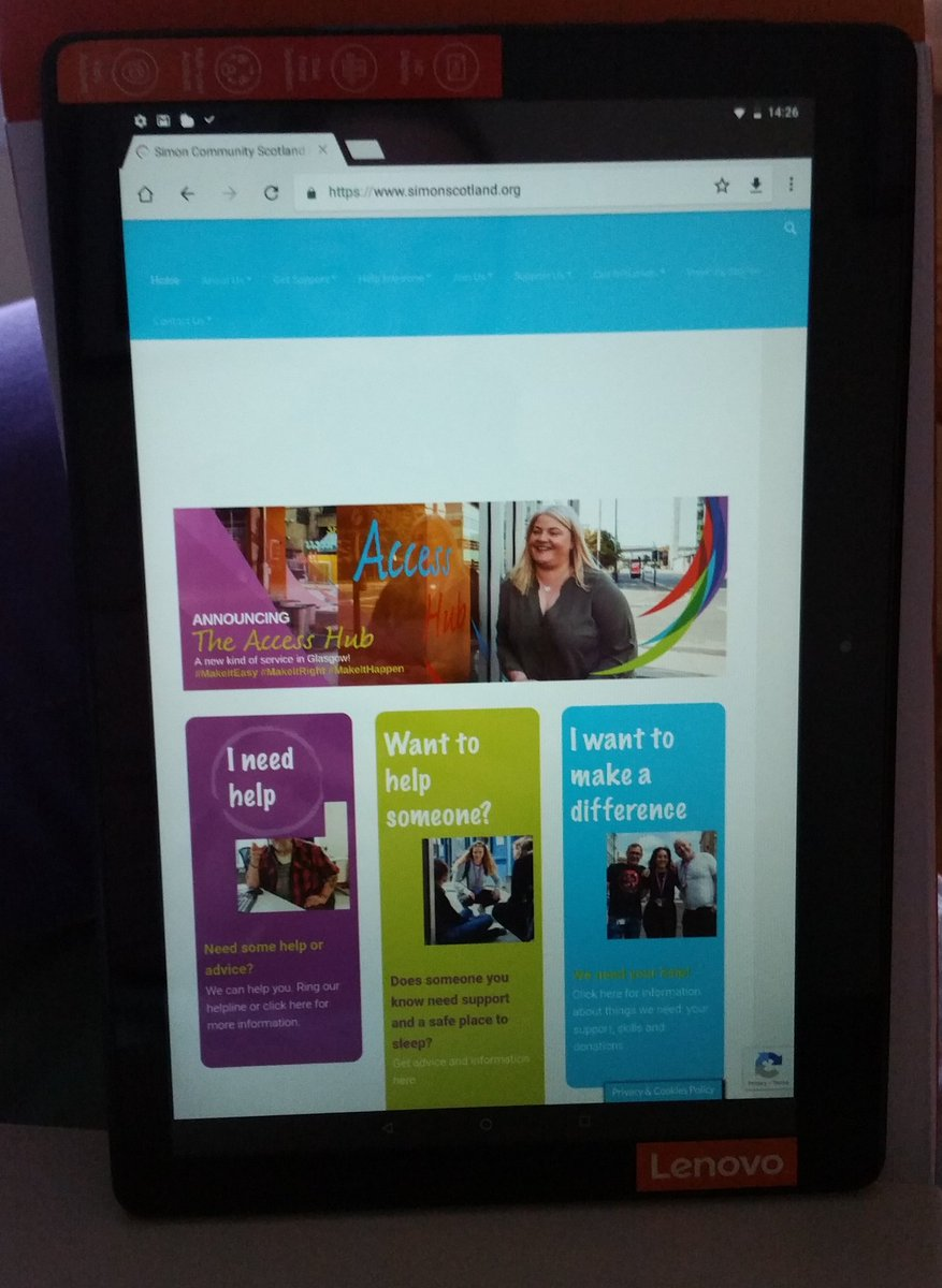 We're delighted to have teamed up with @street_work to provide tablets and WiFi to people affected by both #homelessness and #hearingloss, helping them get online, promoting #accessibility and #digitalinclusion
