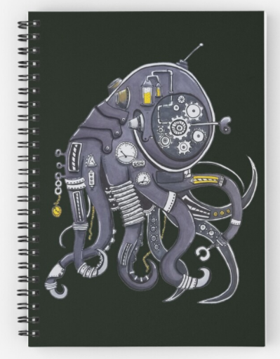 #Steampunk #Octopus Notebook, from our store at #redbubble, link below:  https://t.co/tTaAWMgrzE