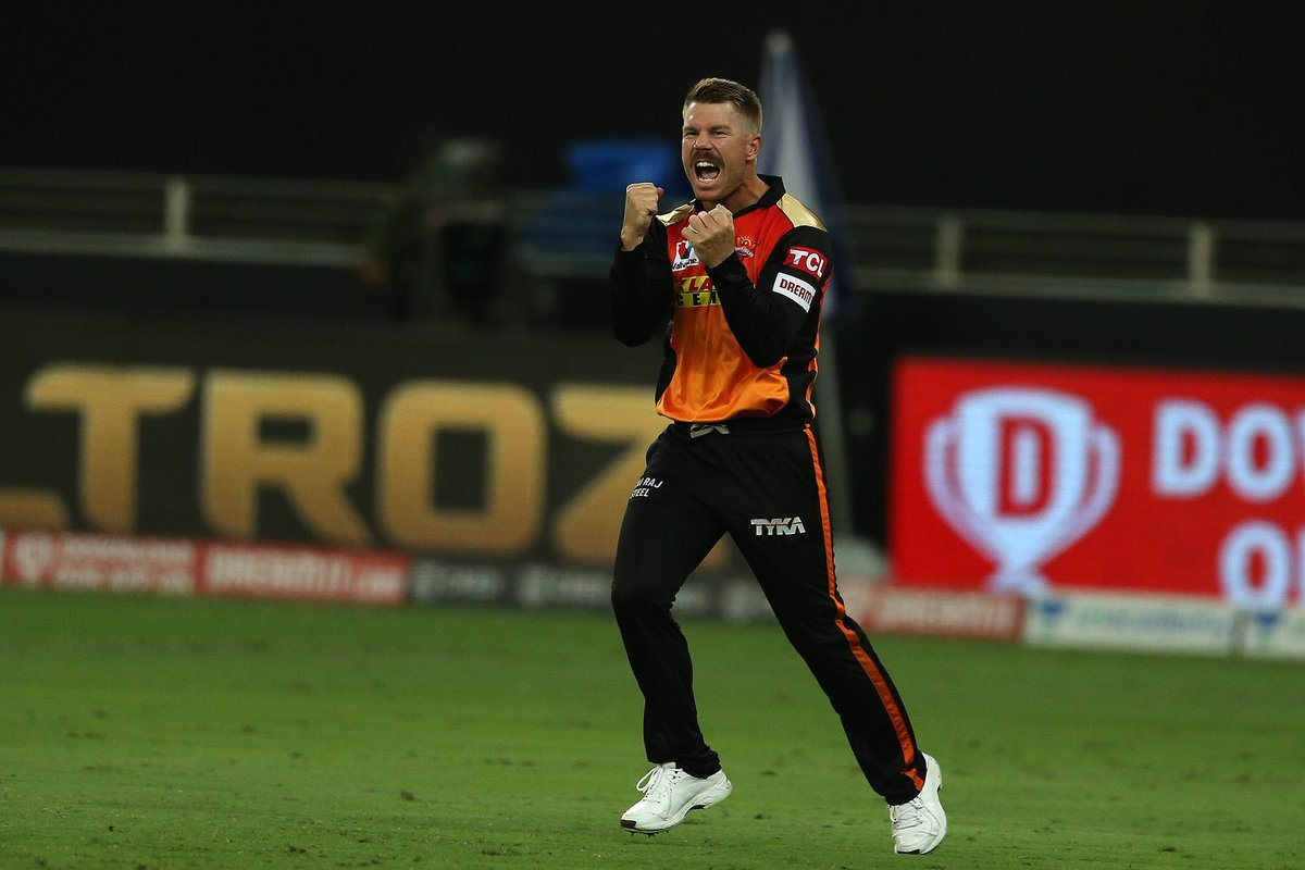 #IPL2020 Sandeep Sharma to Rishabh Pant, OUT! CAUGHT! It has just been the birthday boys day. Warner has got almost everything he wanted this evening. LIVE UPDATES: sify.com/sports/cricket… #SRHvsDC | #DCvSRH | #Dream11IPL