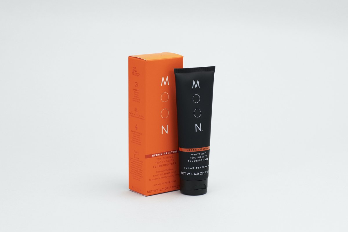 Replying to @vmagazine: 🖤 @KendallJenner & @HeronPreston Debut Orange Toothpaste For @MoonOralCare: