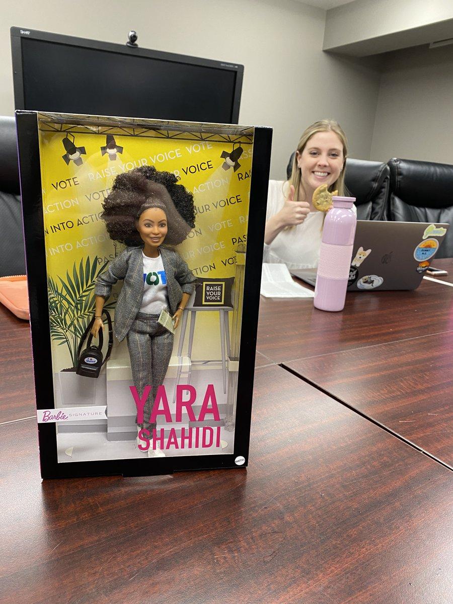 Thank you @girls_inc . for sending us these Yara Shahidi Barbie Shero (Voter) Dolls!  Actress, model and activist Yara Shahidi is a young woman who has broken boundaries to inspire the next generation. #ymm #rmwb https://t.co/aBOWddA3AI