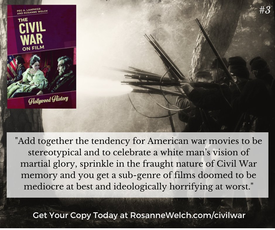 """The Civil War On Film – 3 in a series – """"…films doomed to be mediocre at best and ideologically horrifying at worst.""""  https://t.co/GX7UGKdJ1w  #civilwar #war #uscivilwar #americancivilwar #film #movies #entertainment #history #filmhistory #books #writing #publication  @ABC_CLIO https://t.co/Uukx9hhcfA"""