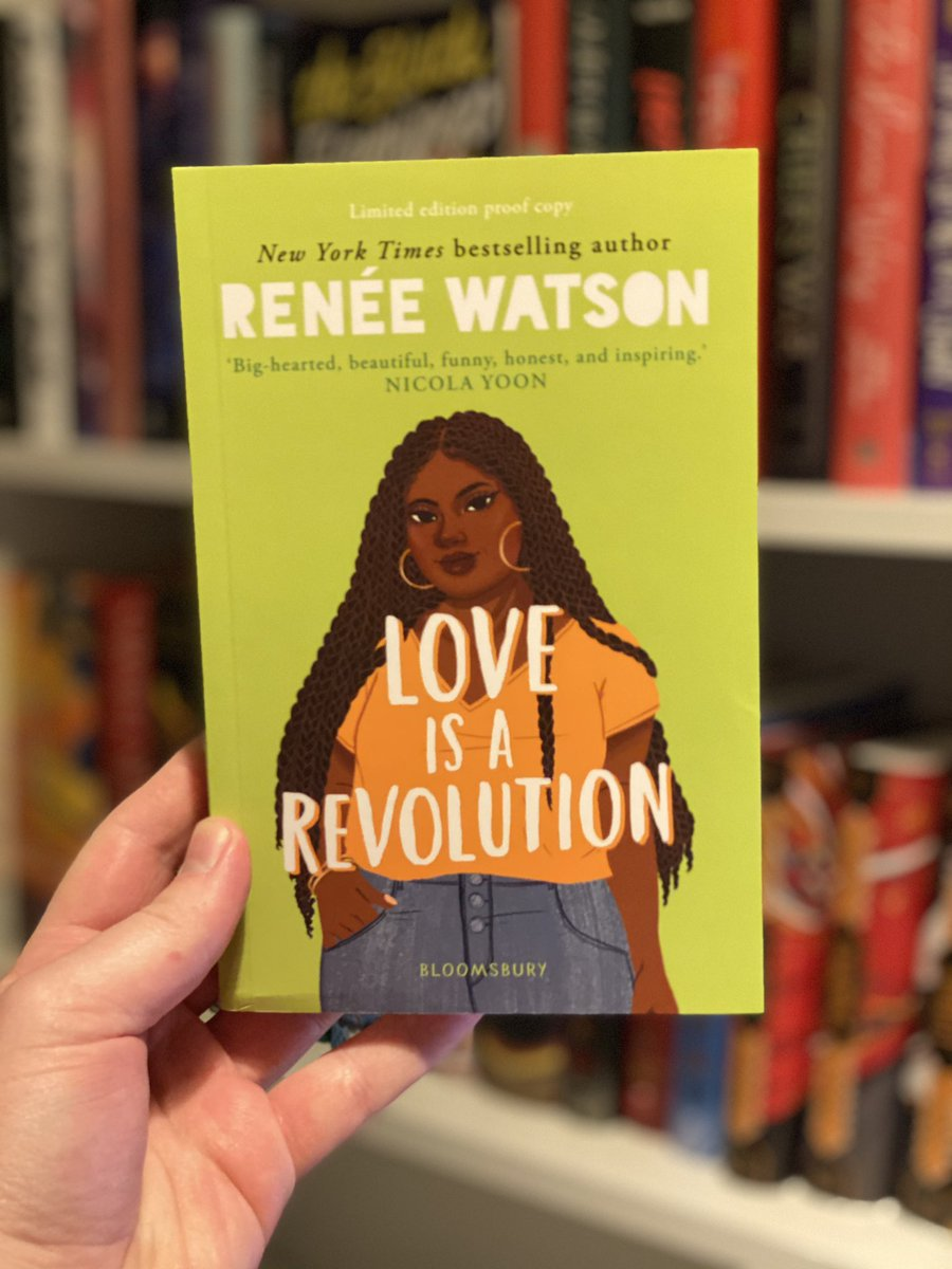 Thank you so much to @matteabarnes and @KidsBloomsbury for my copy of Love Is A Revolution by @reneewauthor  It's out February 4th 2021! I'm so excited to read this one. #bookblogger #bookmail #gifted #books https://t.co/Jepdc4Unjc