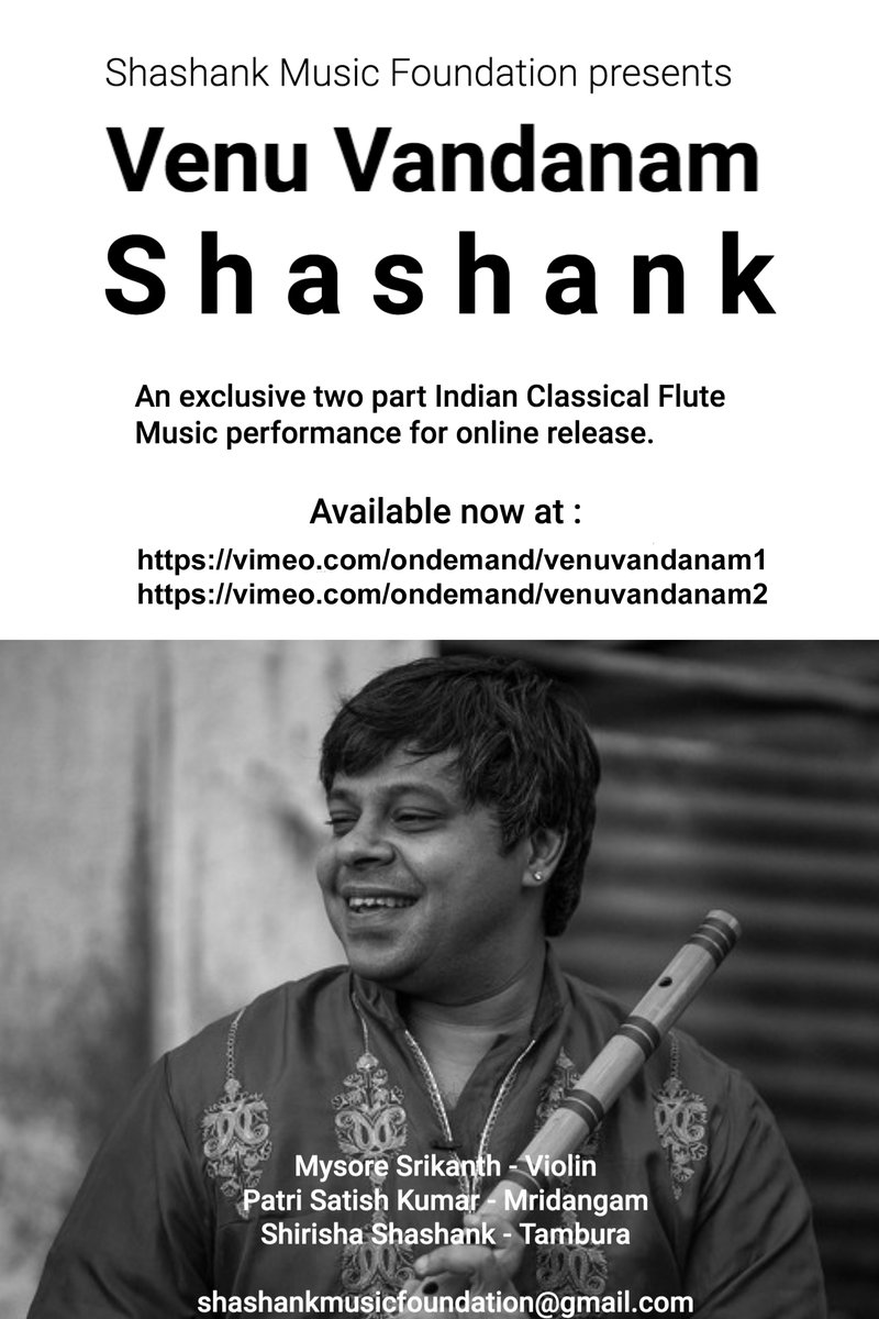 I am to excited to release this exclusive concert that we produced for online release.   It is a two part concert. The links are in the poster attached. It has involved a lot of time and effort making this high quality production.   Available worldwide now.  In India, soon. https://t.co/GxdfluVgk4