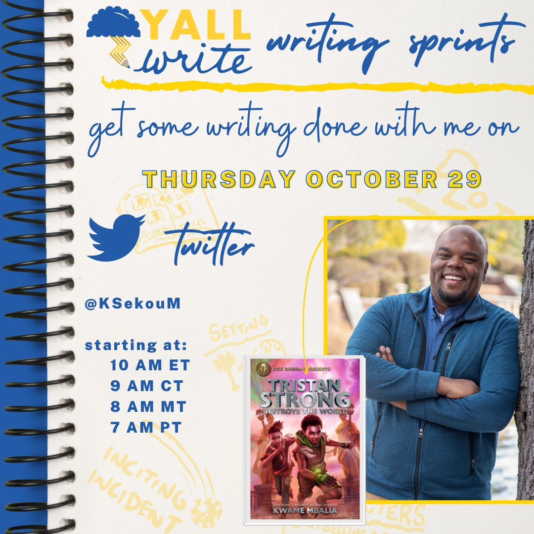 Y'all wanna do some pre-NaNoWriMo sprints with me on Thursday? Catch me at 10am EST and let's get organized.   • Outlines • Synopses • Character backgrounds • Worldbuilding  Come hang out and we'll write! https://t.co/p1xEo2U3QC