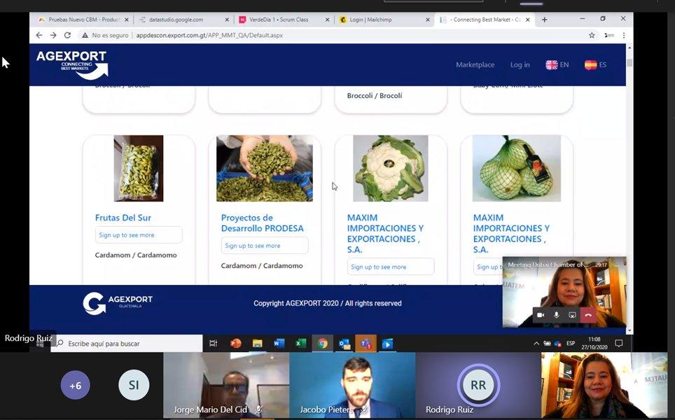 HOY #ConnectingBestMarkets de @AGEXPORTGT fue presentado a empresas de #Dubai    CBM is our B2B platform to get you closer virtually with Guatemalan exporters! #Exports #ExportsGT #ExportacionesGT #NewMarkets #Suppliers #Sellers #Products #Services https://t.co/bHWzk1jQ4P https://t.co/hjI0vm2Xm2