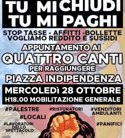 Ristoratori, titolari di palestre e operatori spettacoli contro Dcpm Conte, domani manifestazione a Palermo - https://t.co/abwUOv9o2j #blogsicilianotizie