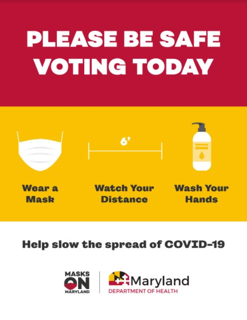 .@MDHealthDept MD Responds Medical Reserves Corps helps MD #VoteSafe! Wear masks, stay 6ft apart & sanitize. If you vote in-person & have symptoms, arent feeling well or dont have a mask, ask an Election Judge to help you vote reducing risk to others😷 #MDvotes #MasksOnMaryland