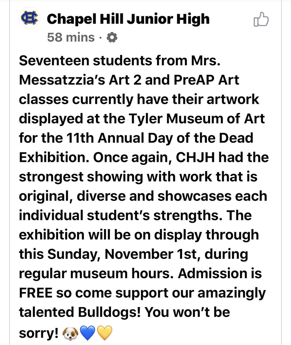 We are so lucky to have such talented teachers and students. @ChapelHill_ISD