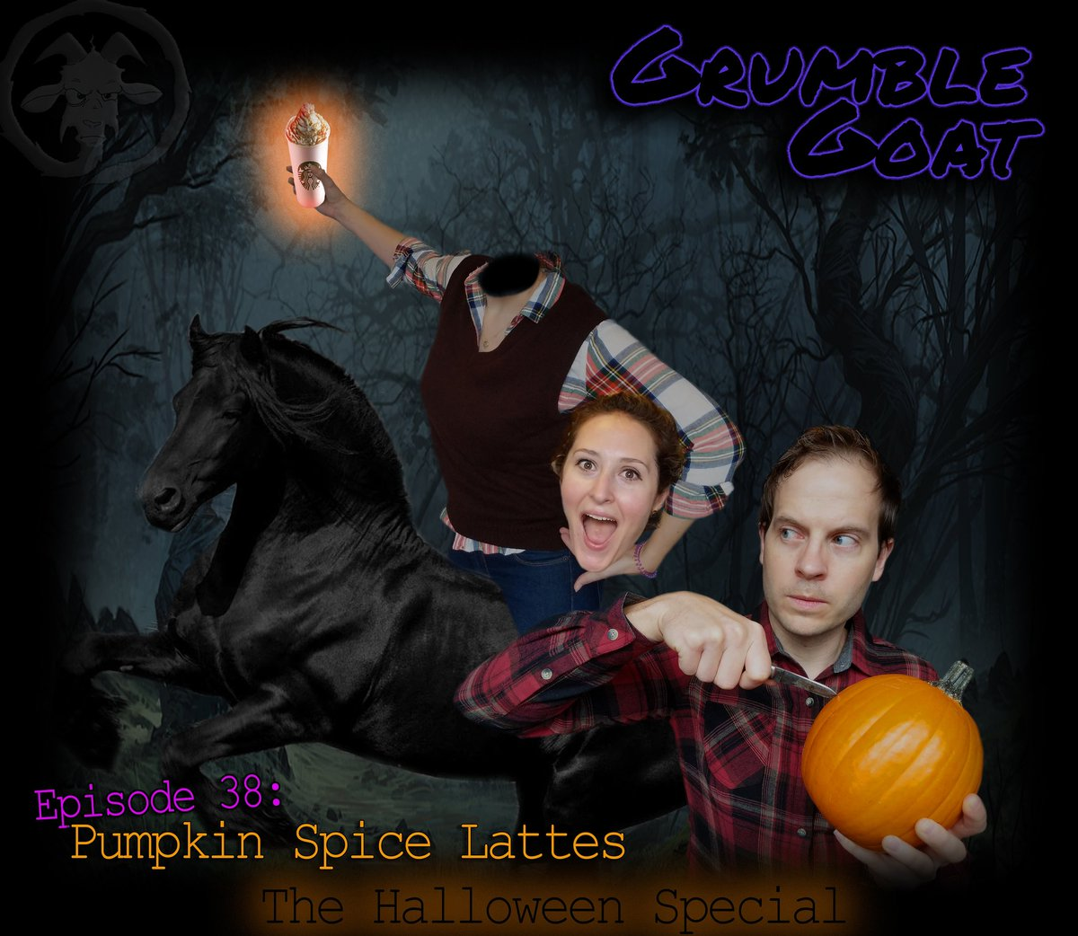 Don't miss the Grumble Goat Halloween Special! What's scarier than Pumpkin Spice Lattes!?! #grumblegoat #podcast #comedy #Halloween https://t.co/SwzK03PQlZ