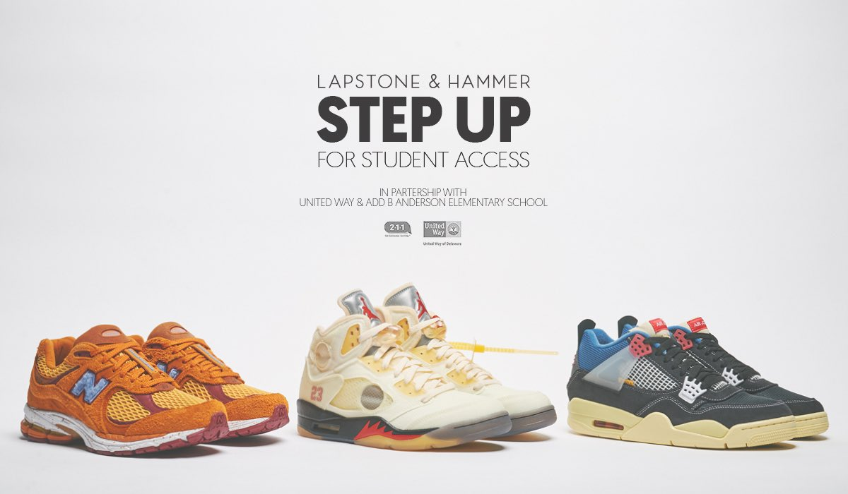 Let's Step Up for Student Access! Want to help us do some good in our community and get a chance at winning some of the year's most coveted kicks?  Details: https://t.co/ktPZPzohQ5 https://t.co/jLinfCluDh