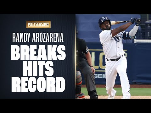 Rays Randy Arozarena breaks Postseason hits record with his 27 playoff hits! (All Postseason hits!) ⚾https://t.co/lnHsKKIZI1  More: https://t.co/1dwnRSr0gG  #RandyArozarena  #MLB #Baseball https://t.co/IgXpY2T26J