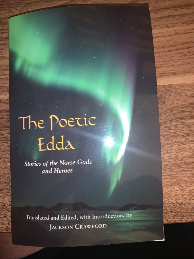 I got this in the mail today. It's time to get my read on. #odin #wisdomofodin #JacksonCrawford #PoeticEdda #norse https://t.co/eP1bMhQbM9