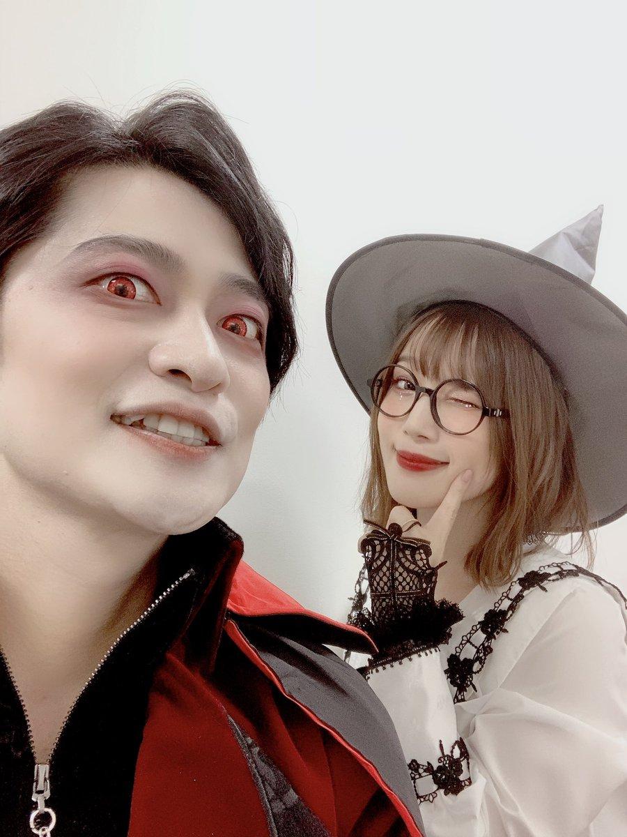 夜あそびハロウィン、いかがでしたかな?久しぶりにシャカ(キック)さんにも会えたし、楽しかった〜っ!!🎃🎃🎃#下野内田と夜あそび