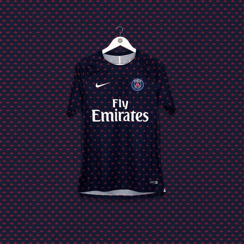 ⚜️⚜️⚜️ PSG 2018/19 pre-match jersey by Nike ➡️ cultkits.com/psg-201819-min…
