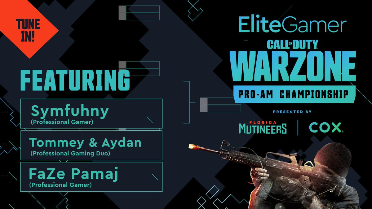 Place your bets on which team is walking away with the W today. One more hour until the #EliteGamer Warzone Pro-Am Championship! 📺 » twitch.tv/flmutineers