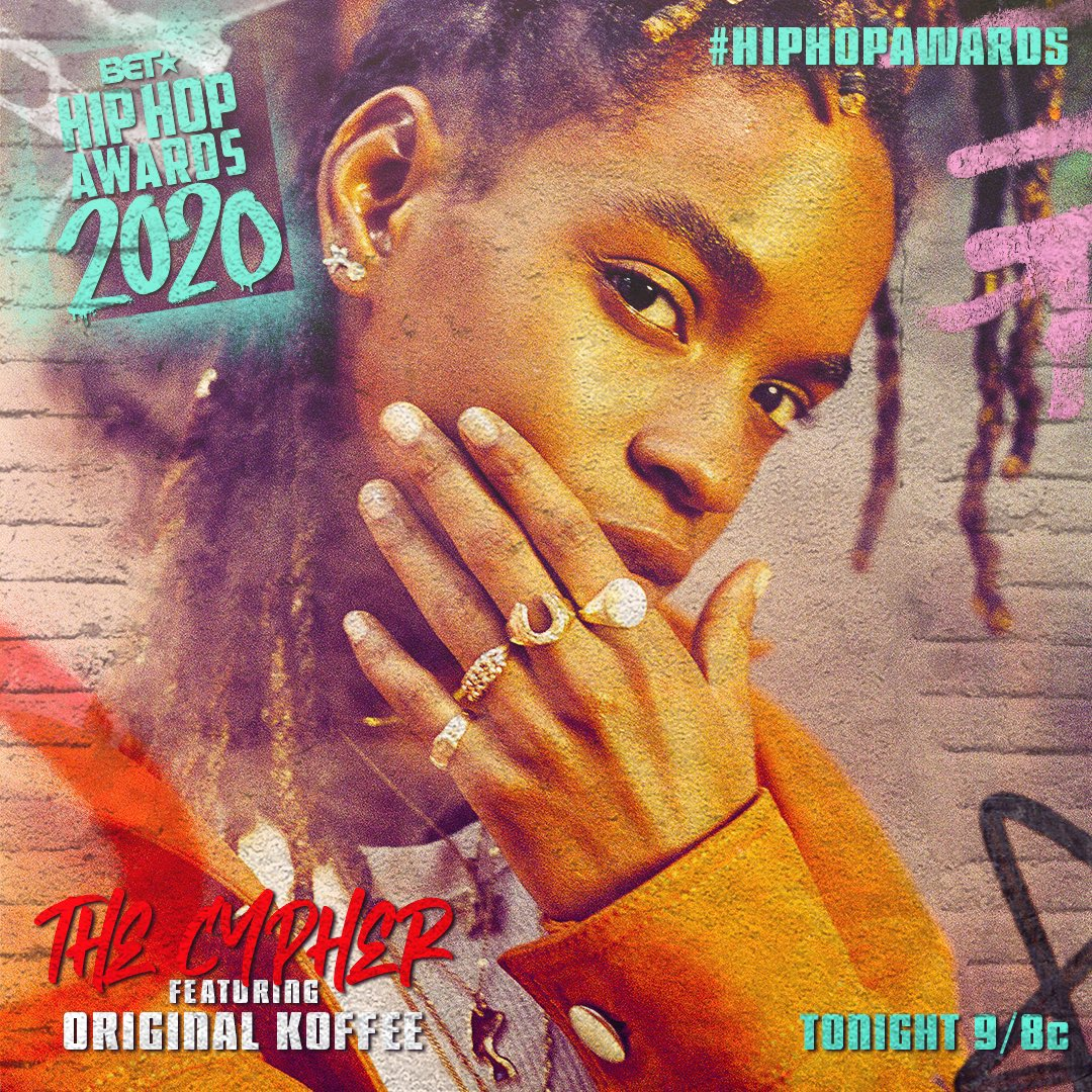 TONIGHT! I'll be part of the #HipHopAwards cypher🔥Tune in at 9/8c on @BET!