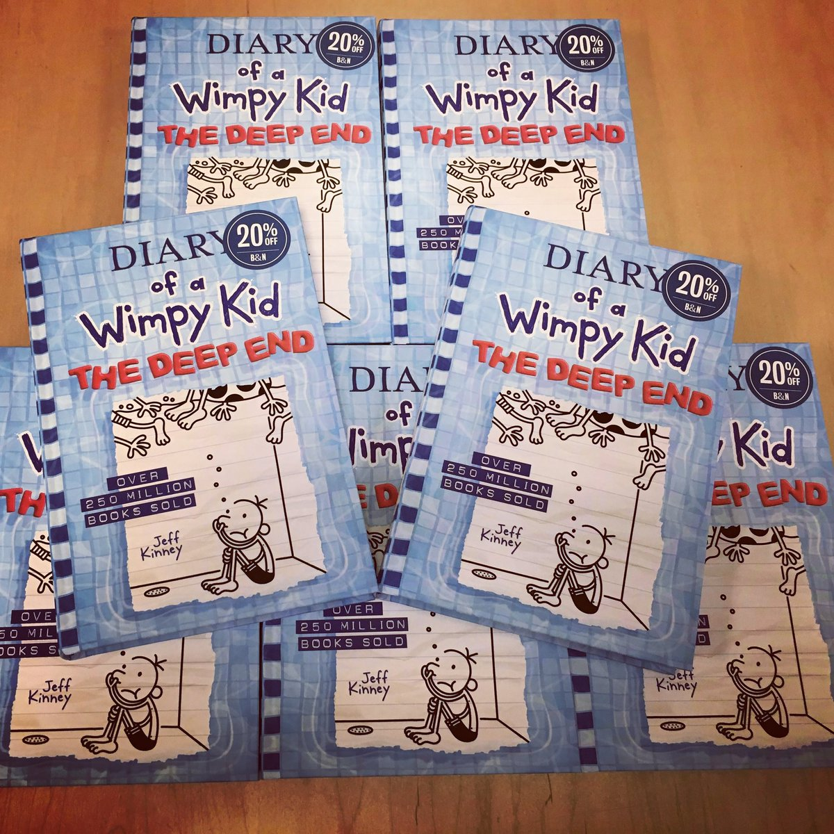 Calling all Diary of a Wimpy Kid Fans!  The latest of the Diary of a Wimpy Kid series, The Deep End, is here!  And, for a limited time, it is 20% off.  So come on in and get your copy today. #bnmiramesa #jeffkinney #diaryofawimpykid #diaryofawimpykidthedeepend #142bn #kidsbooks https://t.co/jTzBN9YcVL