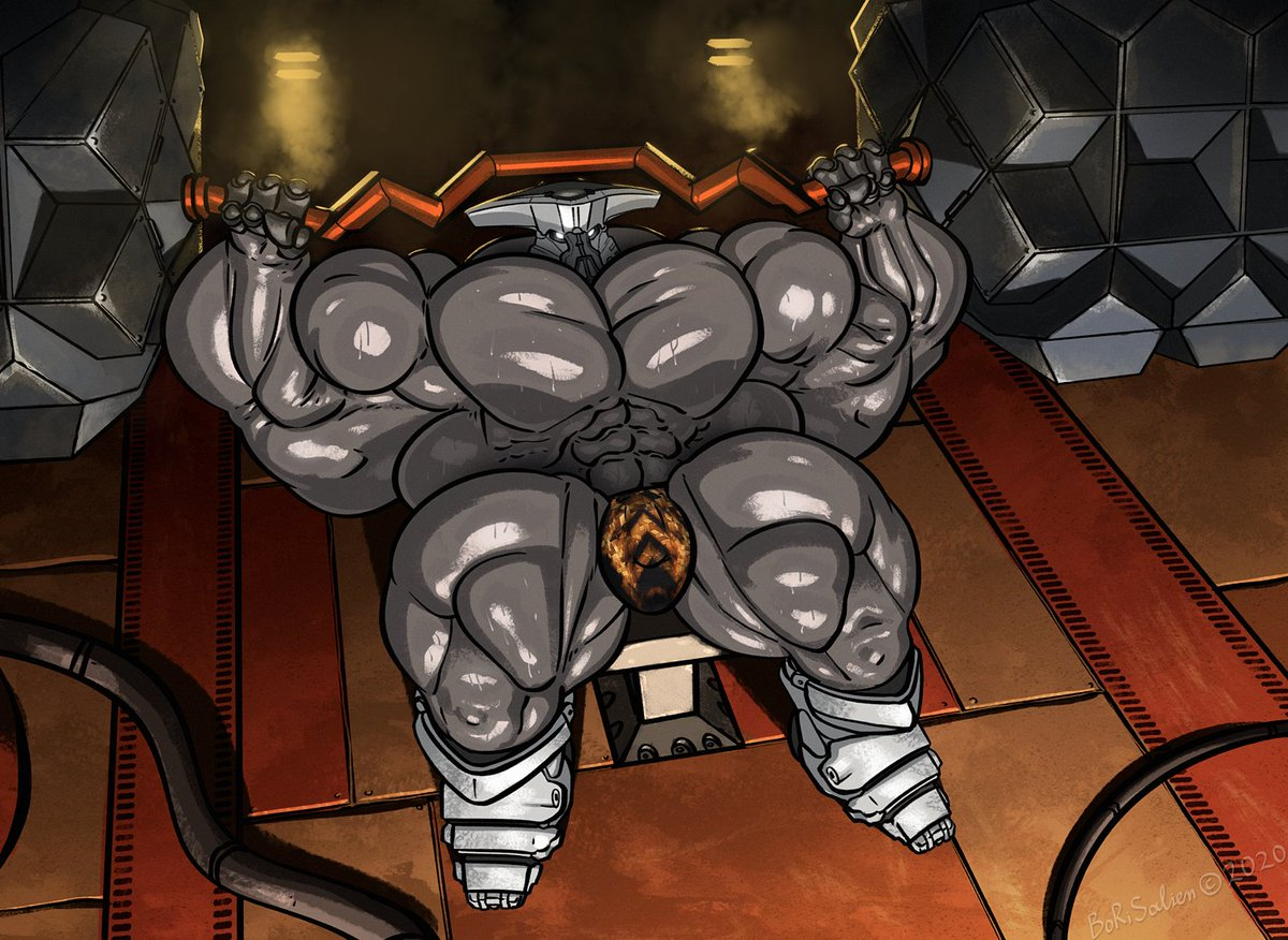 Cabal Gym 💪💦 When this dude punches you, you have to wait 1,000 respawn cooldowns. Shaded commission for Elkayen [FA]! patreon.com/borisalien