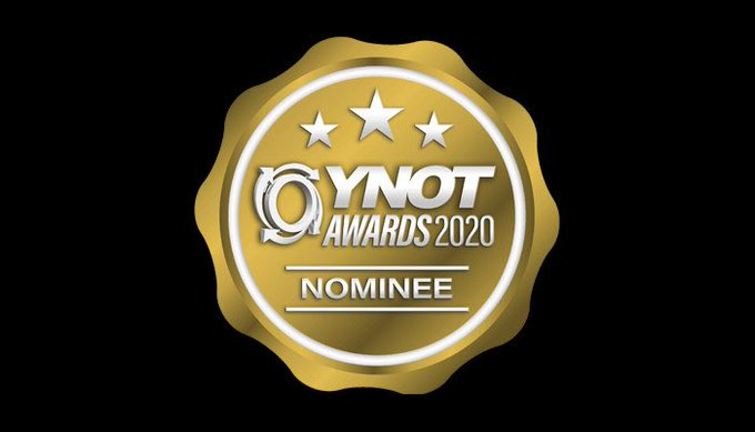 1 pic. 🥰 I'm nominated in two categories for @YNOTdotcom Awards 2020! Industry only voting open until