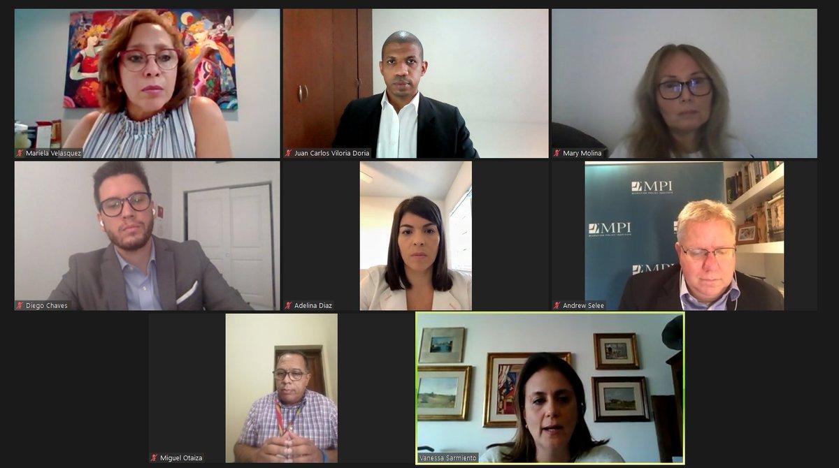 A esta hora participamos  en el Diálogo con miembros de la Coalición por Venezuela, espacio organizado por @MigrationPolicy https://t.co/H4YtL1UE9m