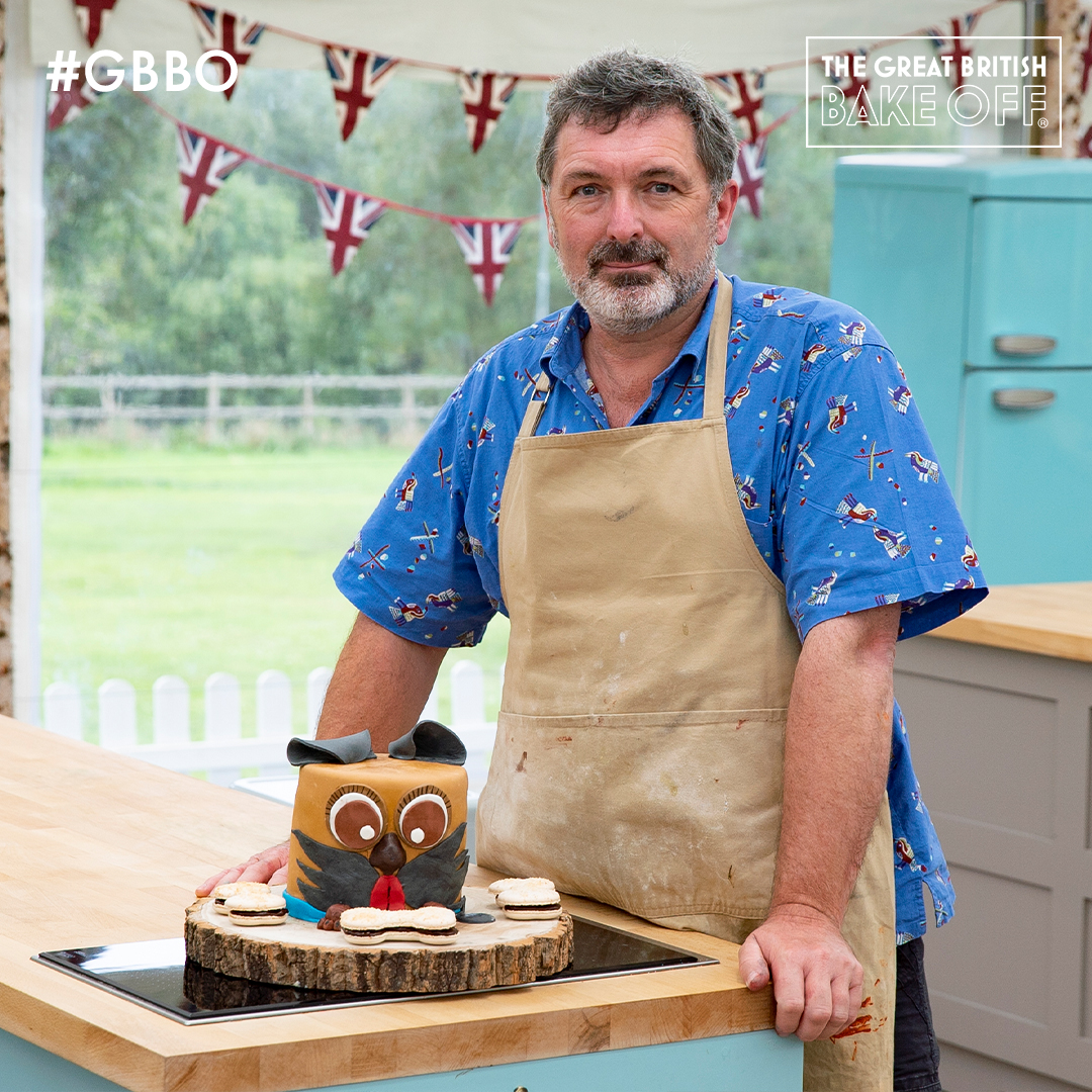 It's the ulti-mutt dog bake creation! Here's Marc with his Hamish The Dog Kawaii Cake Showstopper. #GBBO