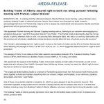 Image for the Tweet beginning: BTA media release: Building Trades