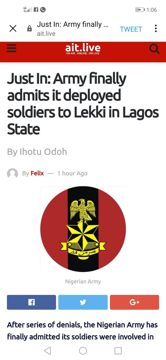 @HQNigerianArmy @jidesanwoolu  @obyezeks @fkabudu New News. Which of them is fake? Who gave the orders? Families are groaning in pains. #endsars  #staysafe https://t.co/fG6Q7LQ6gD
