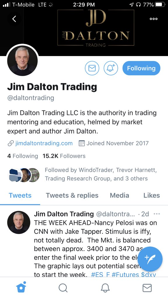 Jim Dalton, one of the most famous market profile traders, many banks and order flow traders use his ideas everyday in their trading. Worth looking at, I have been studying the profile for the past year. https://t.co/LguatBbEfn