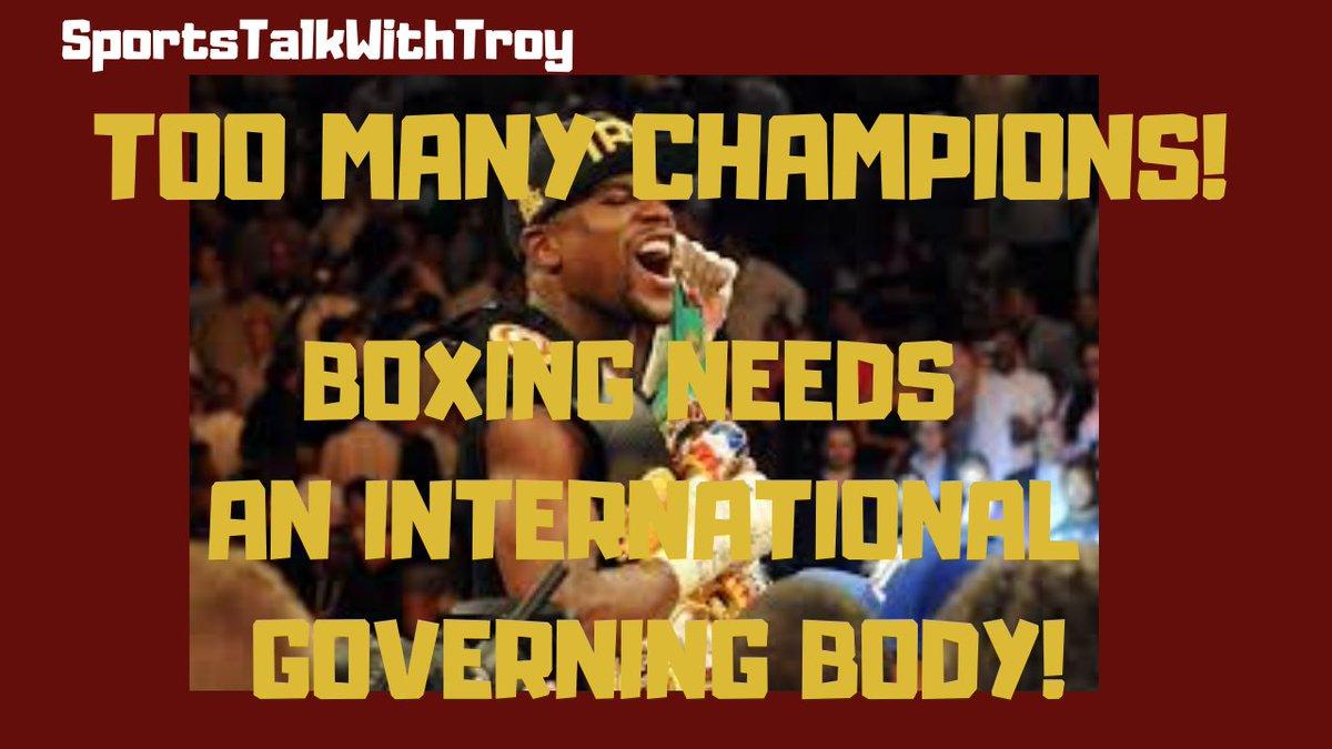 A Reaction To Floyd Mayweather Saying Boxing Has Too Many Champions! https://t.co/qGQNLYUPUk via @YouTube  #boxing #boxingopinion #boxingopinions #floydmayweather #moneymayweather #boxingchampions #wbc #wbcboxing #wba #wbaboxing #Ibf #ibfboxing #wbo #wboboxing https://t.co/K3RbsTzurm