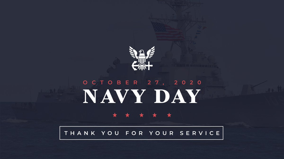 It's #NavyDay! Thank you to all our Navy veterans and those currently serving in our @USNavy!