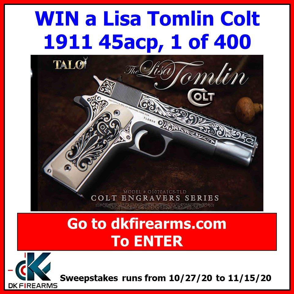 New Gun Giveaway! Win a Lisa Tomlin Colt 1911 45acp 1 of 400!  #GunGiveaway #colt https://t.co/fmOXxqnsnV